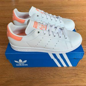 Adidas Stan Smith White / Coral Womens Shoes